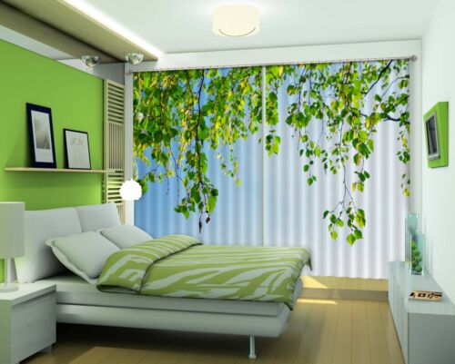 3D Leaf Vine 72 Blockout Photo Curtain Printing Curtains Drapes Fabric Window AU