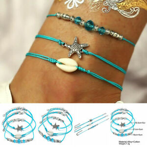 3pcs-Set-Women-Jewelry-Crystal-Starfish-t-Beads-Ankle-Chain-Foot-Anklet-Bracelet