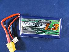 New Turnigy Nano-Tech 1300mAh 2S 25C 50C Lipo E-Flite Blade Battery Pack USA