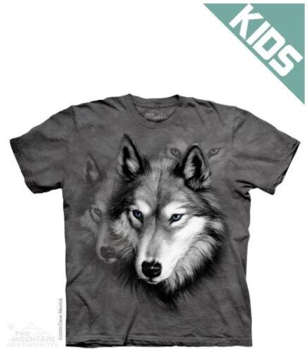 "Biker NEU /& OVP Baumwolle Wolf Portrait/"" Kinder T-Shirt /""The Mountain"
