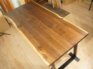 Tischplatte Massiv Arbeitsplatte Räuchereiche Naturbelassene