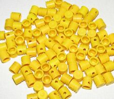 LEGO LOT OF 100 YELLOW ENGINE PISTONS ROUND PARTS