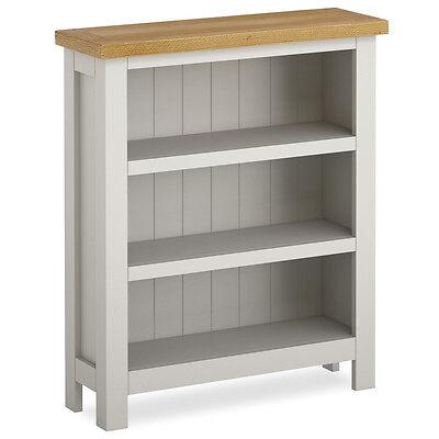 Farrow Painted Small Bookcase / Narrow Stone Grey Painted Bookshelf / Shelves