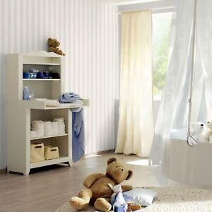 Enfant-XVIII-Etroit-Rayure-Papier-Peint-Gris-Blanc-Rasch-246001-Neuf