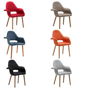 Saarinen-Style-Dining-Arm-Accent-Chair-Black-Red-Gry-Org-Taupe-Blue-Twill-Fabric