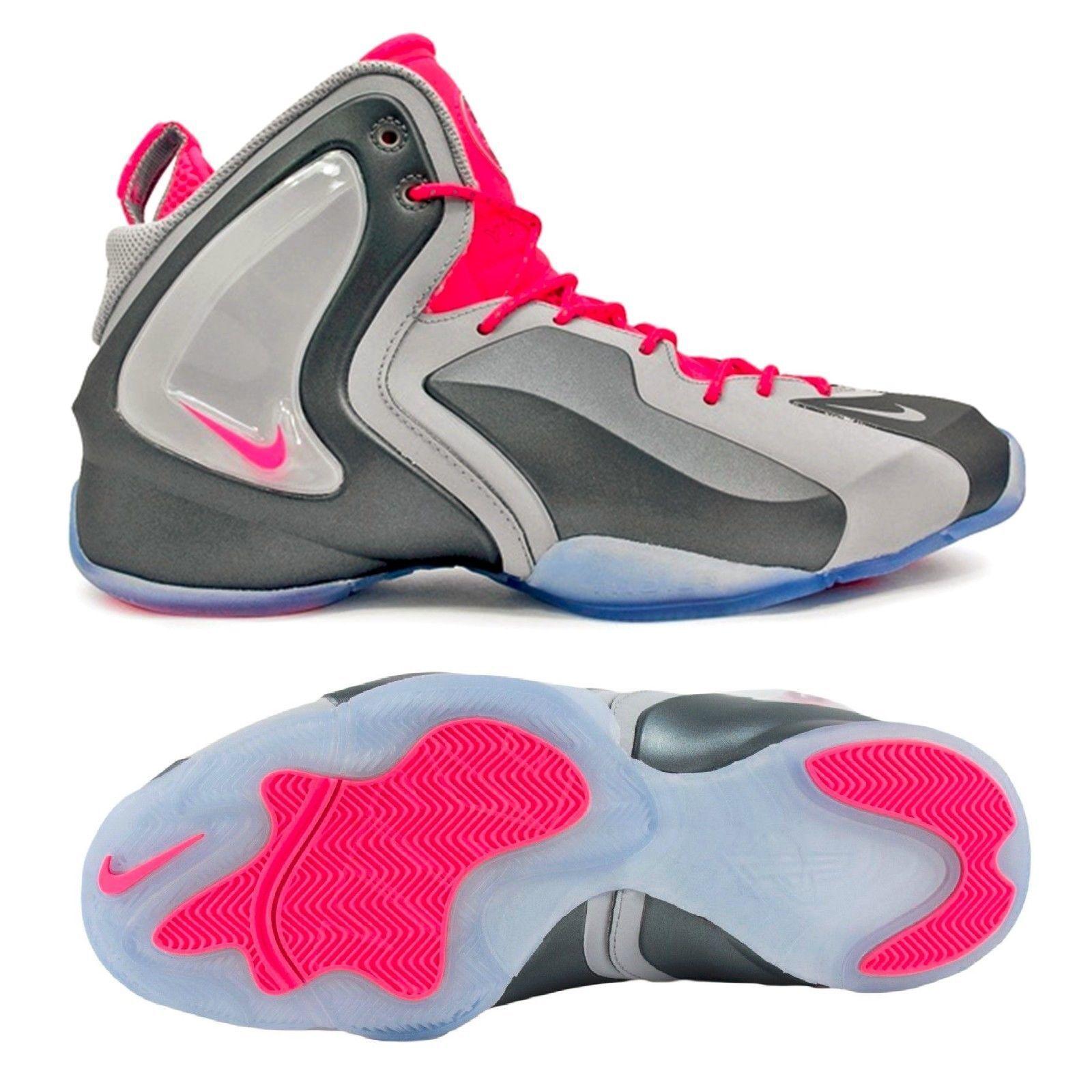 Nike Men's Lil' Penny Posite Wolf Grey Hyper Pink sz 11 [630999-001] foamposite