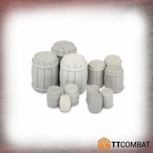 TTCombat BNIB Wooden Barrels TTSCR-SOV-001