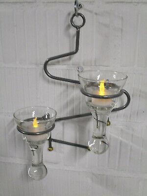 1 x Deko Metall Kerzenhalter Wand Teelichthalter Glas Kerzenhalter Dekoration