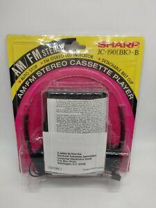 SHARP JC-190 (BK) -B AM/FM Cassette Player Headphones