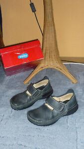 Details zu Wolky Leder Ballerinas, Schuhe, Halbschuhe Gr.3738 grau blau