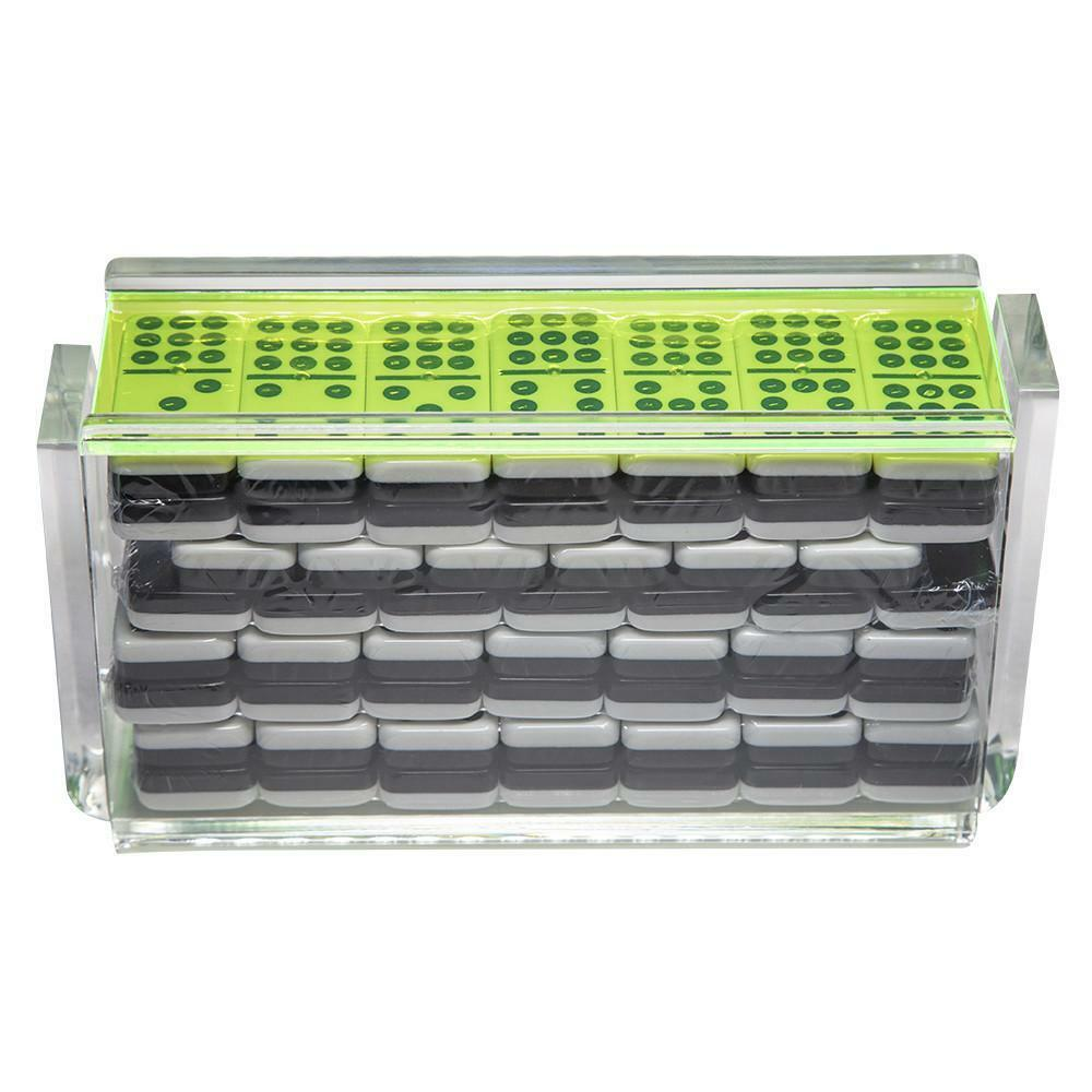 Double 9  El Acere  Domino Set - Neon Green
