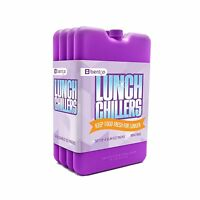 Bentgo Ice Lunch Chillers Ultra-thin Ice Packs (4 Pack - Purple) Free Shipping