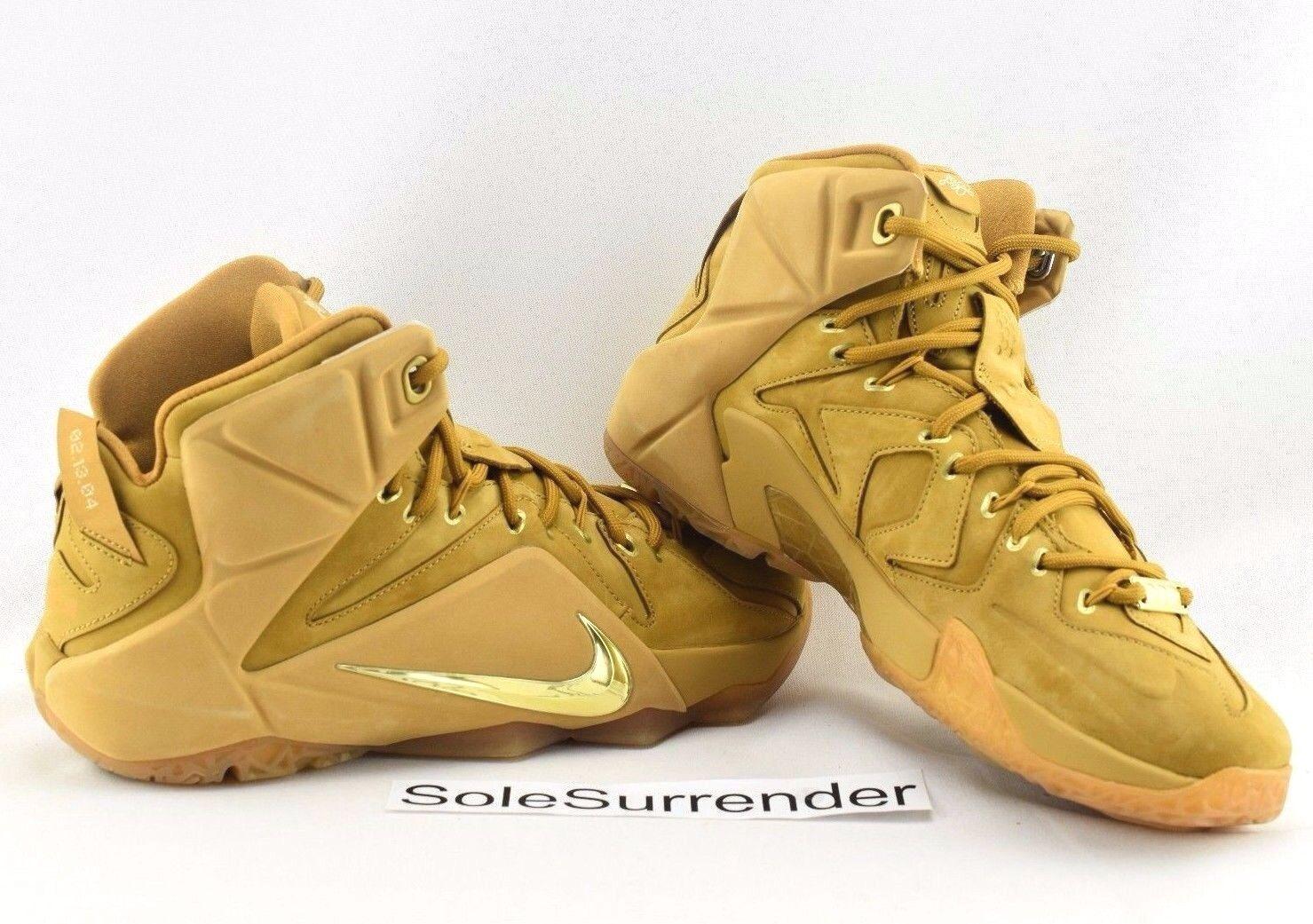 Nike lebron xii ext qs - scegliere taglia - 744287-700 grano oro brown 12 tan cork