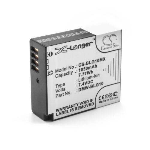 DMW-BLG10E Bateria 1050mAh para PANASONIC DMW-BLG10