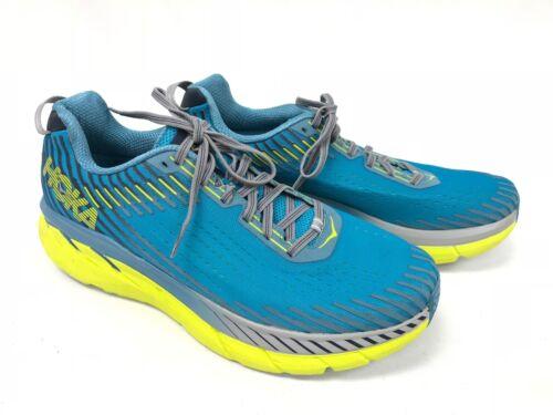 Hoka One One Clifton 5 Men/'s Carribean Sea Storm Blue Tennis Shoes 1093755