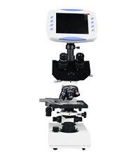 "Professional Trinocular Microscope w  2Mp TV Camera 6"" LCD Screen 1GB SD Storage"