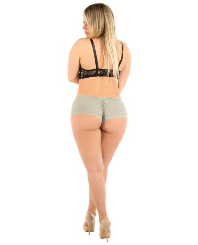 B2BODY 6 Pack of Women/'s Lace Boyshort Panties with Organic Cotton Liner