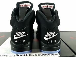 Nike Air Jordan 5 Black Metallic Silver 2016 w/ Receipt V Retro OG 845035-003 DS