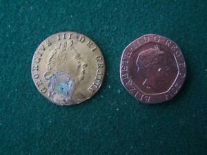 George-III-1768-Spade-Guinea-Brass-Gaming-Token-ware-to-tail-side