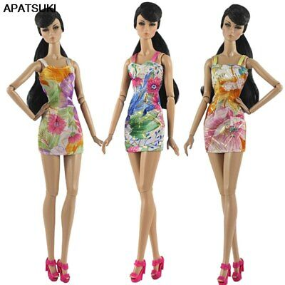 """Summer Outfit Floral Dresses for 11.5/"""" Doll Clothes 1//6 Doll Outfits Party Dress"""