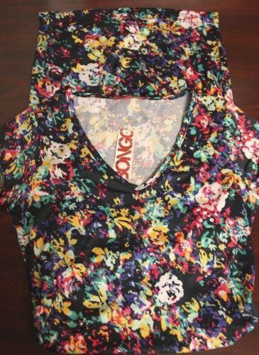 Dress Floral Juniors Bongo Short Sleeve Trendy S//Small M//Med L//Large NEW $21.99