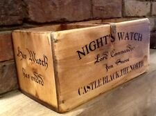 Jon Snow - Game Of Thrones Antiqued Wooden Box. CD Storage Crate
