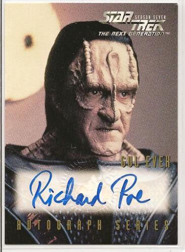 Star Trek TNG Season 7 Autograph Card A13 Richard Poe as Gul Evek Losse kaarten