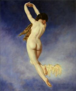 Quality-Hand-Painted-Oil-Painting-Repro-Bouguereau-The-Lost-Pleiad-20x24in