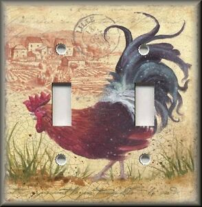 Image Is Loading Metal Light Switch Plate Cover Country French Rooster