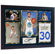 Stephen Curry Golden State Warriors autographed signed photo printed NBA Framed
