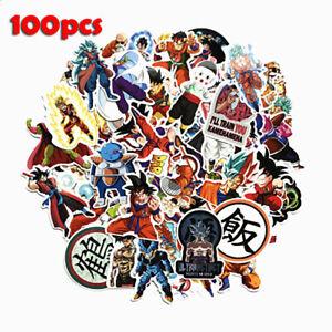 New-100Pcs-Anime-Dragon-Ball-Z-Super-Saiyan-Goku-Stickers-Decal-For-Laptop-Phone