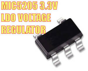 20PCS MIC5205 MIC5205-3.3YM5 SOT23-5 LDO Voltage Regulador 3.3V