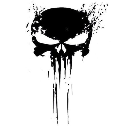 7CMX17.8CM The Punisher Skull Car Sticker Pentagram Vinyl Decals Motorcycle car