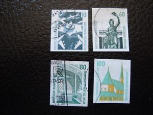 Germany-Rfa-Stamp-Yvert-and-Tellier-N-1383-A-1386-Obl-A3-Z