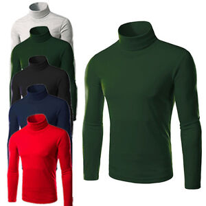38b646cea Image is loading Mens-Thermal-Cotton-Turtle-polo-Neck-Skivvy-Turtleneck-