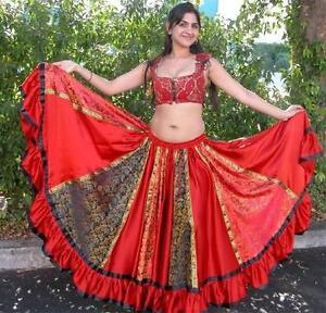 Bollywood Boho Kuchi Tribal Belly Dance Dancing Indian lengha skirt Lengha sari