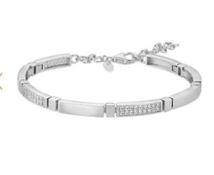 925 ECHT SILBER RHODINIERT *** Zirkonia Tennisarmband Armband Armkette 19 cm