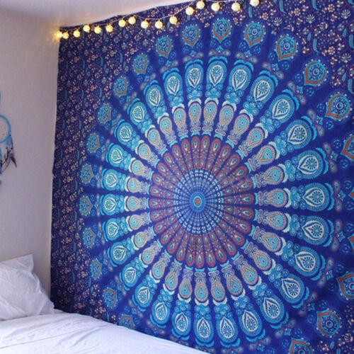 Mandala Beach Throw Boho Hippie Yoga Mat Towel Mat Bedspread Tapestry Blanket UK
