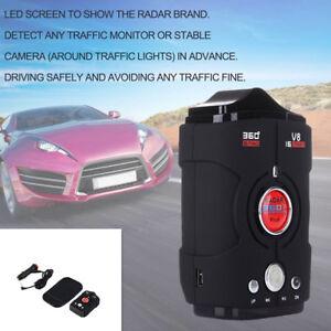 16-Band LED Display Car Radar Detector 360° Bilingual Voice Warning Laser Alarm