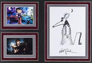 Neil Gaiman Coraline Rare Original Hand Drawn Signed Sketch With Coa Ebay