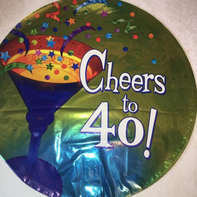"18/"" Pink /& Silver Glitz 40 Foil Balloon 40th Birthday Party Decoration Helium"