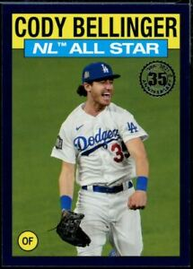 2021 Topps Series 2 #86AS-12 Cody Bellinger Blue Parallel Los Angeles Dodgers