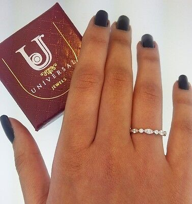 14k Solid Yellow Gold Eternity Band Stackable Ring Endless Wedding Band
