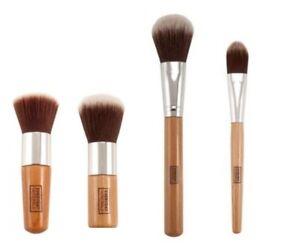 4-pcs-bamboo-brush-set-Flat-top-foundation-Face-powder-Contour-High-quality-UK