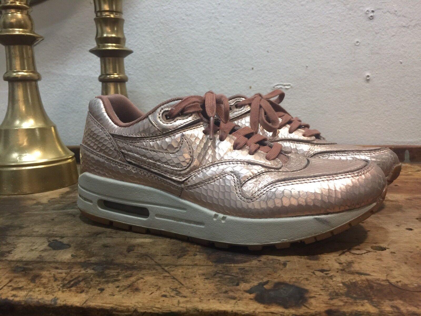 Nike air max 1 bronzo tagliato donne dimensioni 7 am1 rosa d'oro 644398-900 | Up-to-date Styling  | Uomo/Donne Scarpa