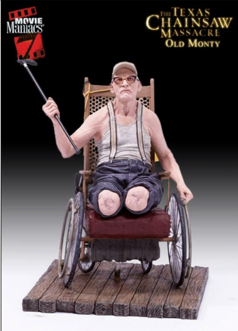 TEXAS CHAINSAW MASSACRE OLD MONTY ACTION FIGURE - MOVIE MANIACS 7