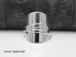 BEAUTIFUL-CHUNKY-SOLID-STERLING-SILVER-SPOON-RING-SIZE-S