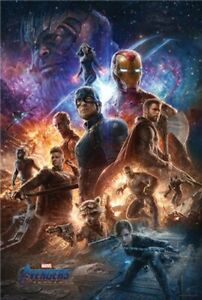 Avengers-4-Endgame-Cosmos-POSTER-61x91cm-NEW-End-Game-Thor-Hulk-Nebula-Thanos
