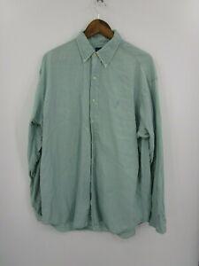 Ralph-Lauren-Men-039-s-Long-Sleeve-Button-Down-Dress-Shirt-Size-L