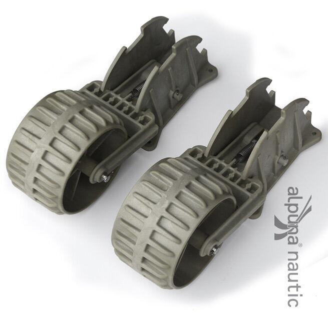 ALPUNAnautic Kunststoff Slipräder für SchlauchStiefele - Transporträder Heckräder